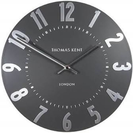 20 Inch Mulberry Graphite Silver Wall Clock