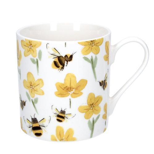 Buttercup & Bee Bone China Mug