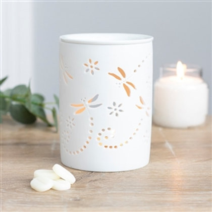 Ceramic Wax Melter / Oil Burner With Cutout Design