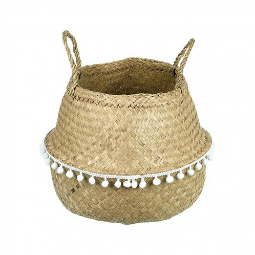 Woven Basket with Bobbles