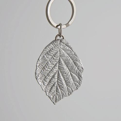 Leaf Pewter Key Ring