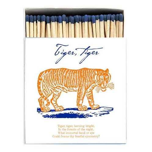 Tiger Tiger Large Matches in Square Printed Matchbox