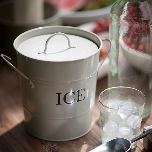 Ice Bucket in White