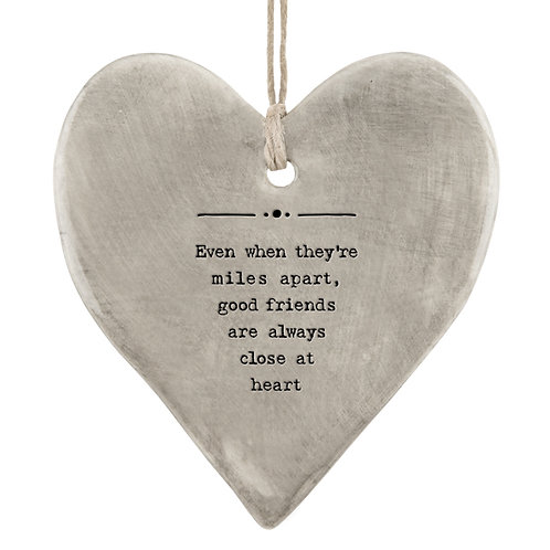 Rustic hanging heart-Even miles apart