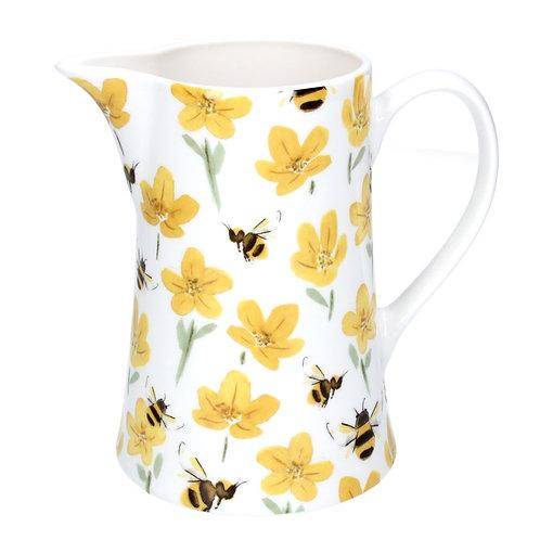 Ceramic Jug, Medium - Buttercup/Bee