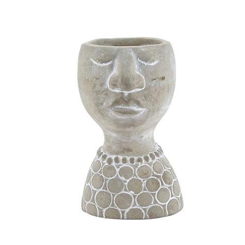 Concrete Flower Pot Head