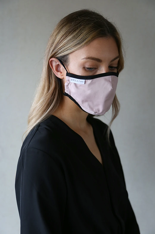 Adult Organic Cotton Face Covering Pink