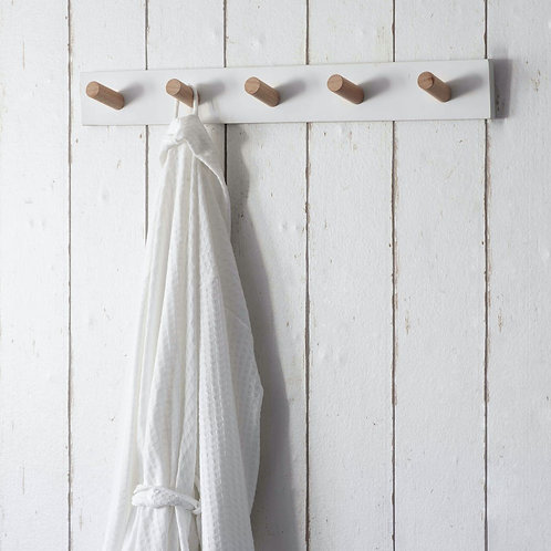 Wooden Melcombe Peg Rail with 5 Pegs