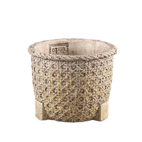 Norse Brown cement pot basket look round M