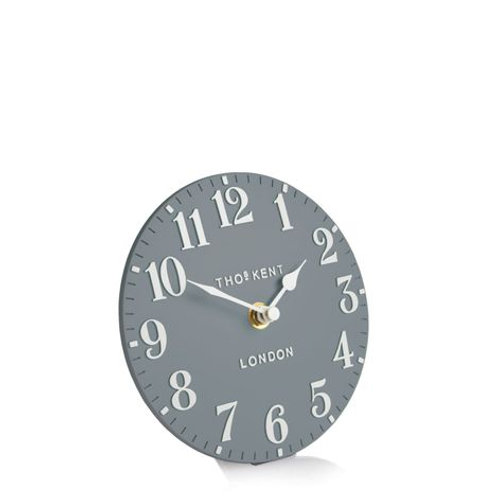 6 Inch Arabic Flax Blue Mantel Clock