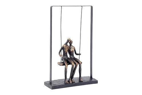 Couple on Swing Sculpture