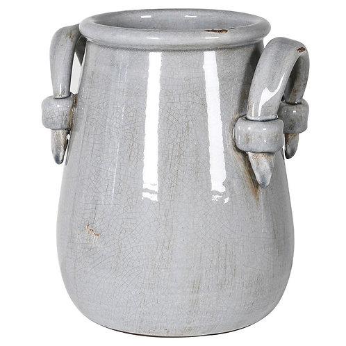 Grey Urn Vase With Handles