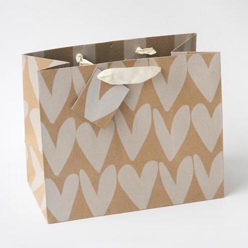 Kraft Hearts Landscape Gift Bag