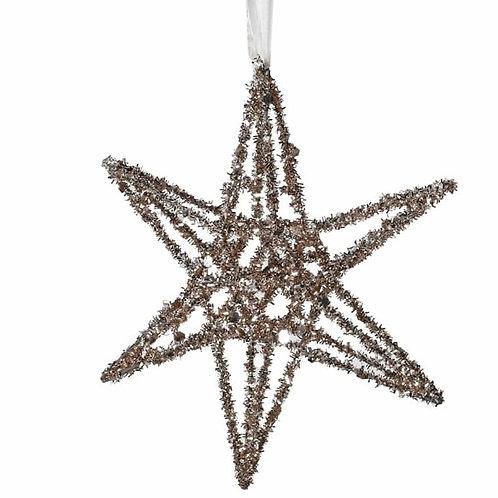 Small Gold Glitter 3D Star