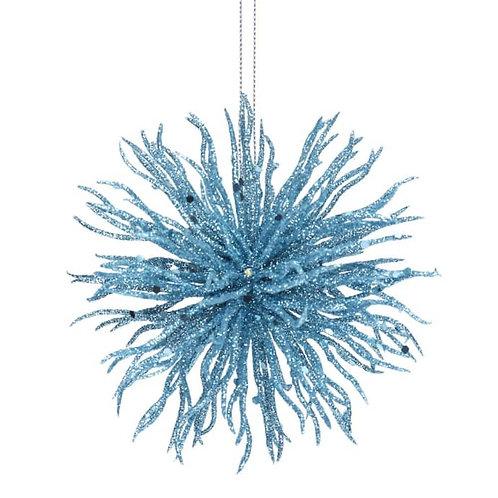 Blue Glitter Acrylic Starburst Ball Decoration