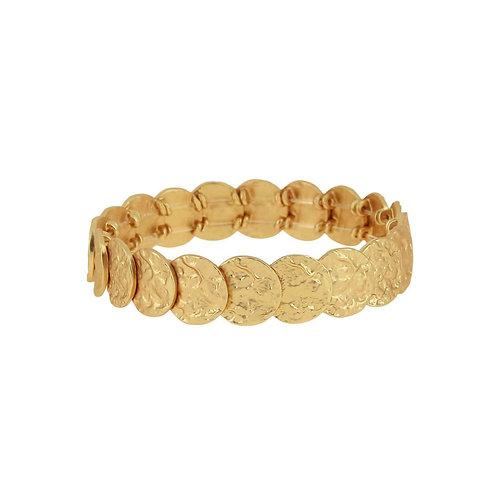 AMBER PLATE BRACELET GOLD PLATING