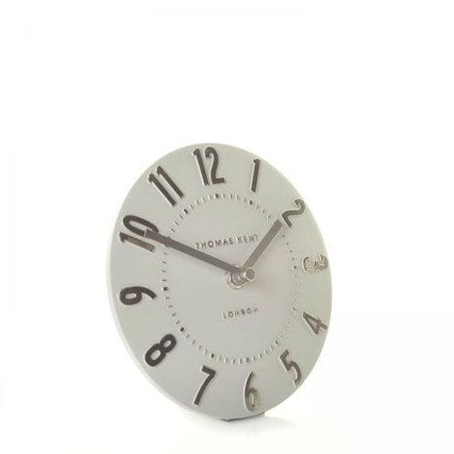 "6"" Mulberry Mantel Clock Silver Cloud"