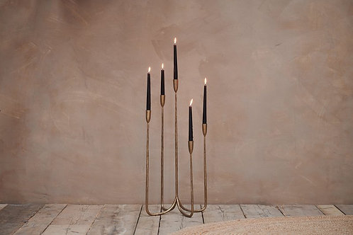Large Mbata Cluster Candelabra - Antique Brass