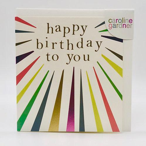 Happy Birthday To You Card by Caroline Gardner