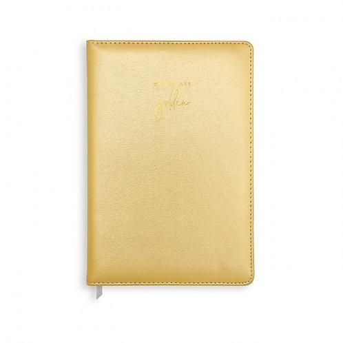 Notebook | Words are Golden | Metallic Gold