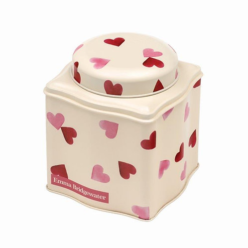 Pink Hearts Dome Lid Wavy Caddy