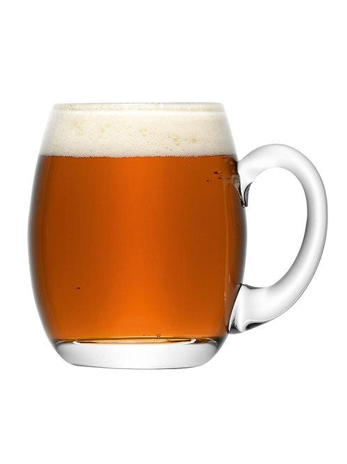 Bar Beer Tankard 500ml Clear