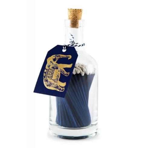 Elephant With Blue Sticks Match Bottle