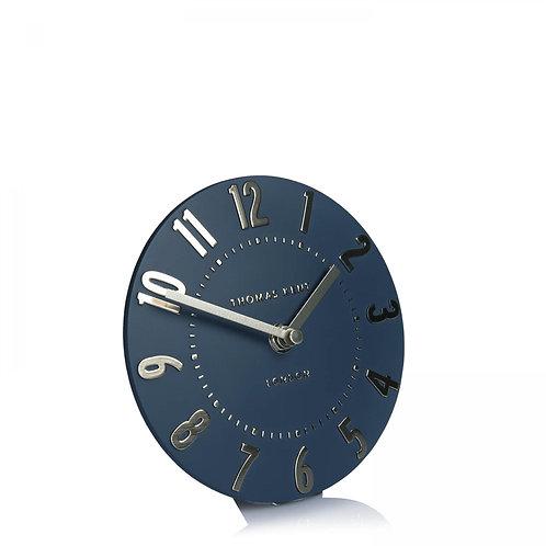 6 Inch Midnight Blue Mantel Clock