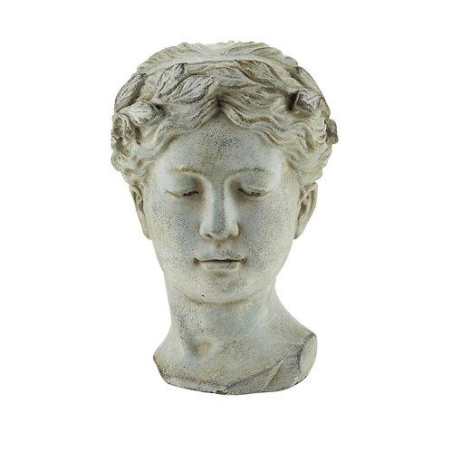 Concrete Roman Head Lady
