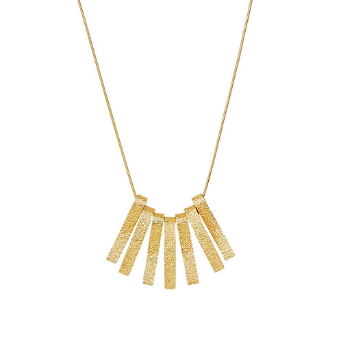 AMBER WAVE NECKLACE GOLD PLATING