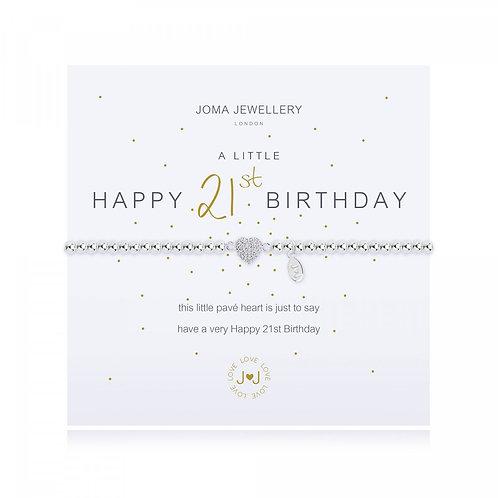 a little Happy 21st Birthday Bracelet