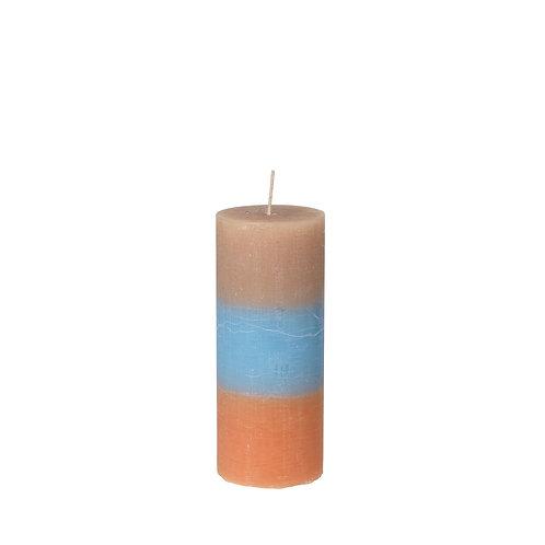 Rainbow Pillar Candle 'Caramel Sky'