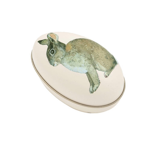 Animals Rabbit Medium Tin Egg