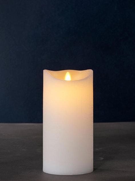 Sara Exclusive white Ø:10 H:20cm moving flame