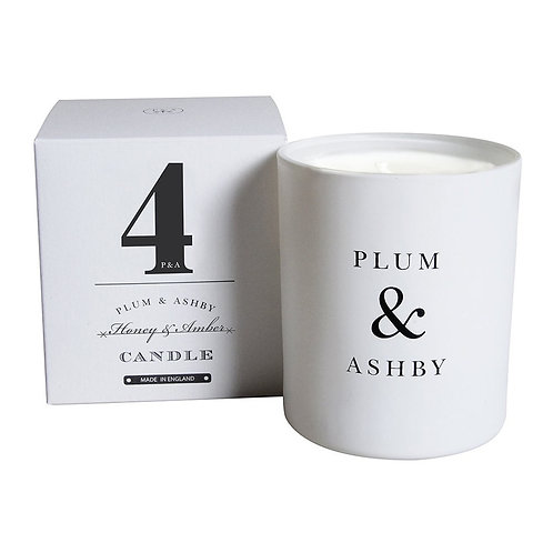 Number 4 Honey & Amber Scented Candle