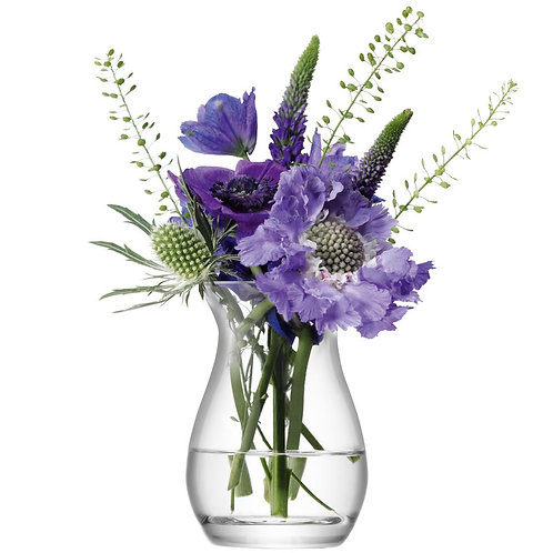Flower Mini Posy Vase H9.5cm Clear
