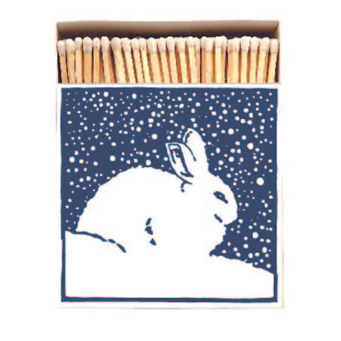Rabbit Matches in Square Printed Matchbox