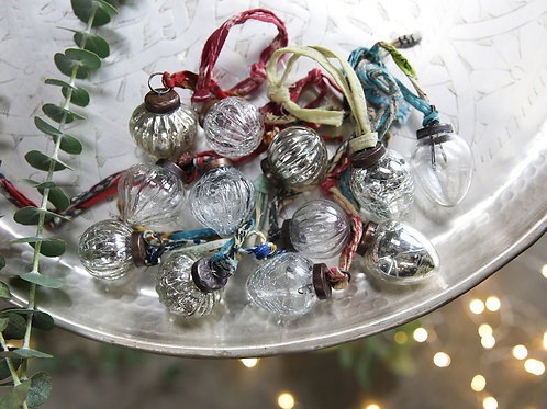 Dew Drop Baubles Silver & Clear (Set of 12)
