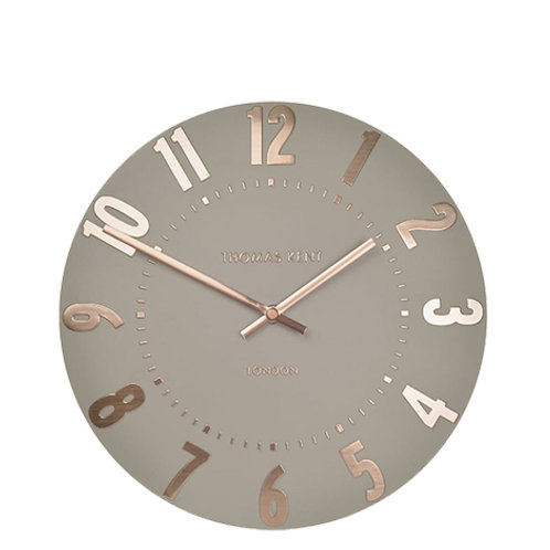 12 Inch Mulberry Rose Gold Small Wall Clock