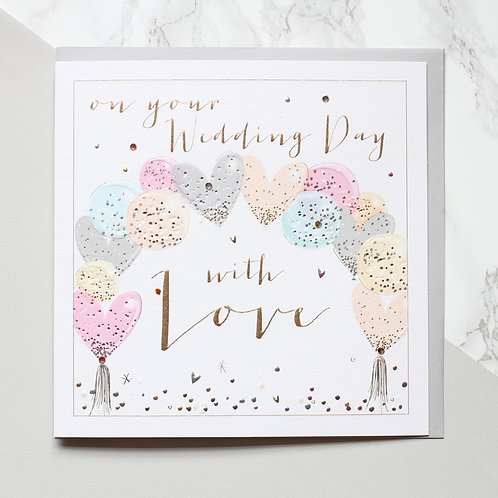 On Your Wedding Day with Love balloons