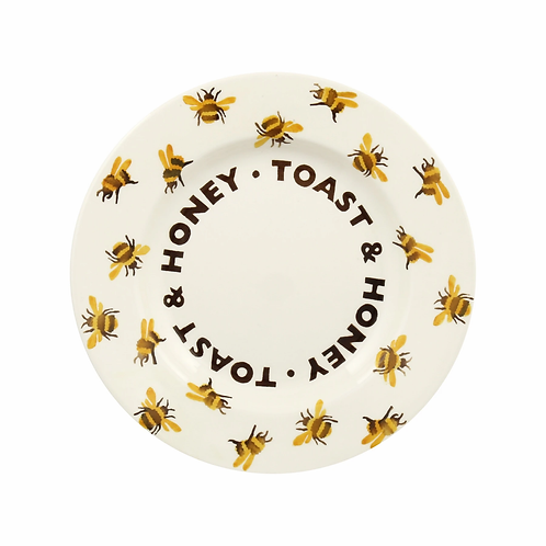 Bumblebee Toast & Honey 8 1/2 Inch Plate