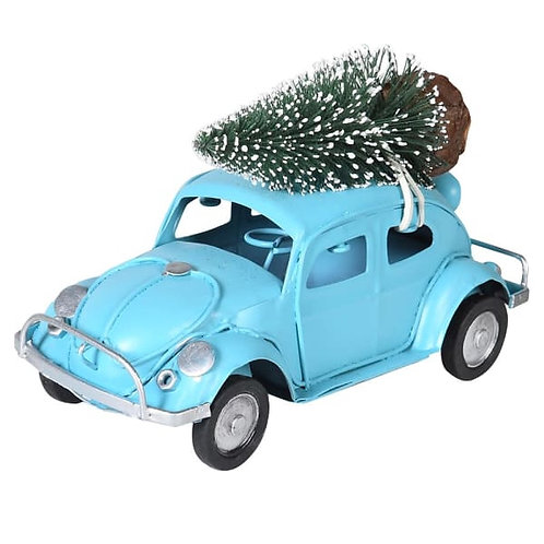 Beetle With Christmas Tree On Roof