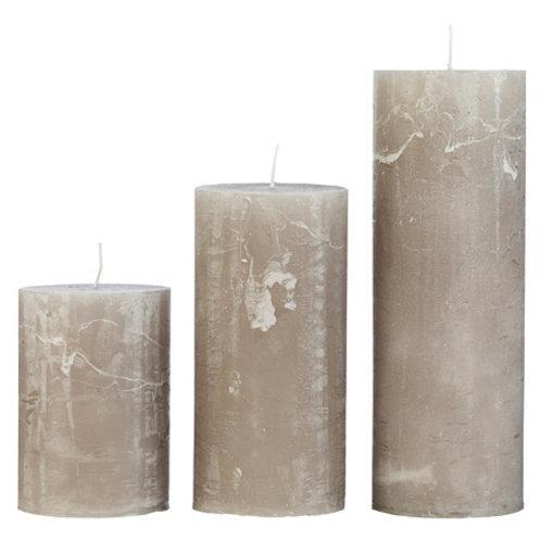 Rustic Stone Candle Medium (10x25cm)