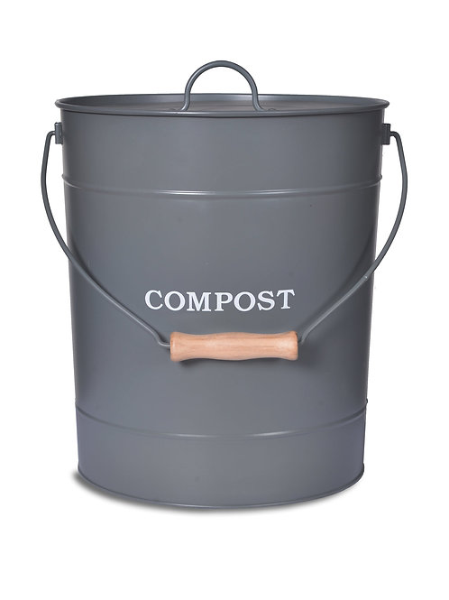 10 Litre Compost Bucket in Charcoal