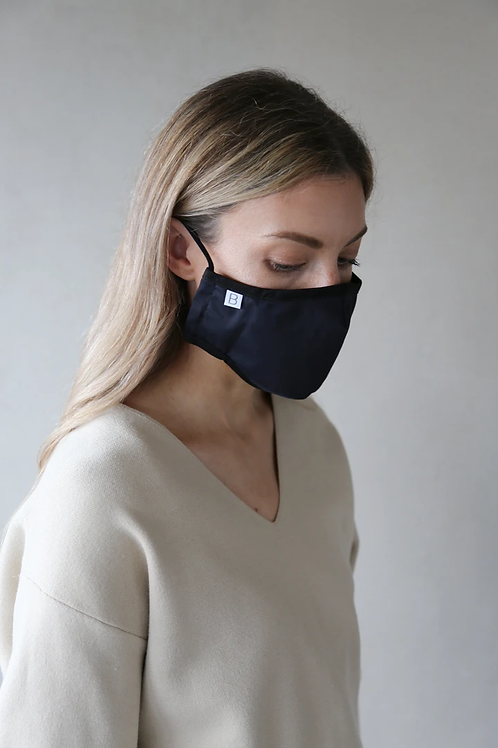 Adult Organic Cotton Face Covering Navy