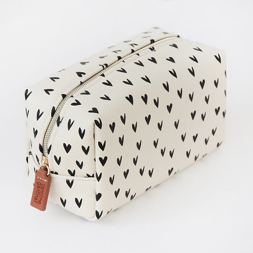 Cube Hearts Cosmetic Bag