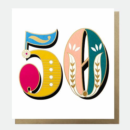 Carnival 50th Birthday Card
