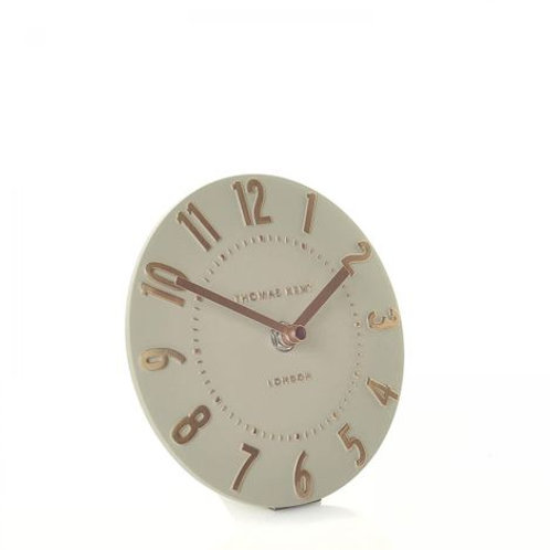 6 Inch Mulberry Rose Gold Mantel Clock