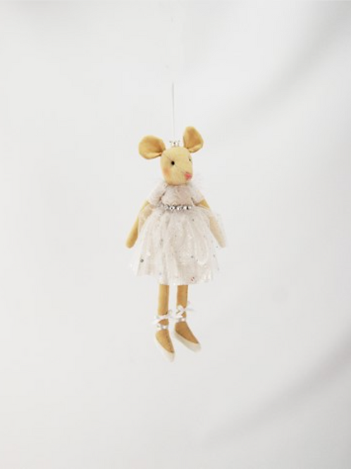 Hanging White Angel Mouse