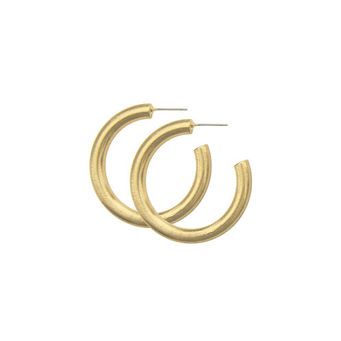 TARA CHUNKY HOOP SMALL EARRING GOLD PLATING